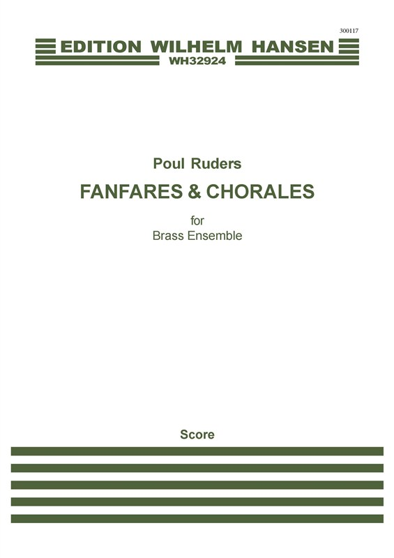 Poul Ruders: Fanfares And Chorales: Brass Ensemble: Score