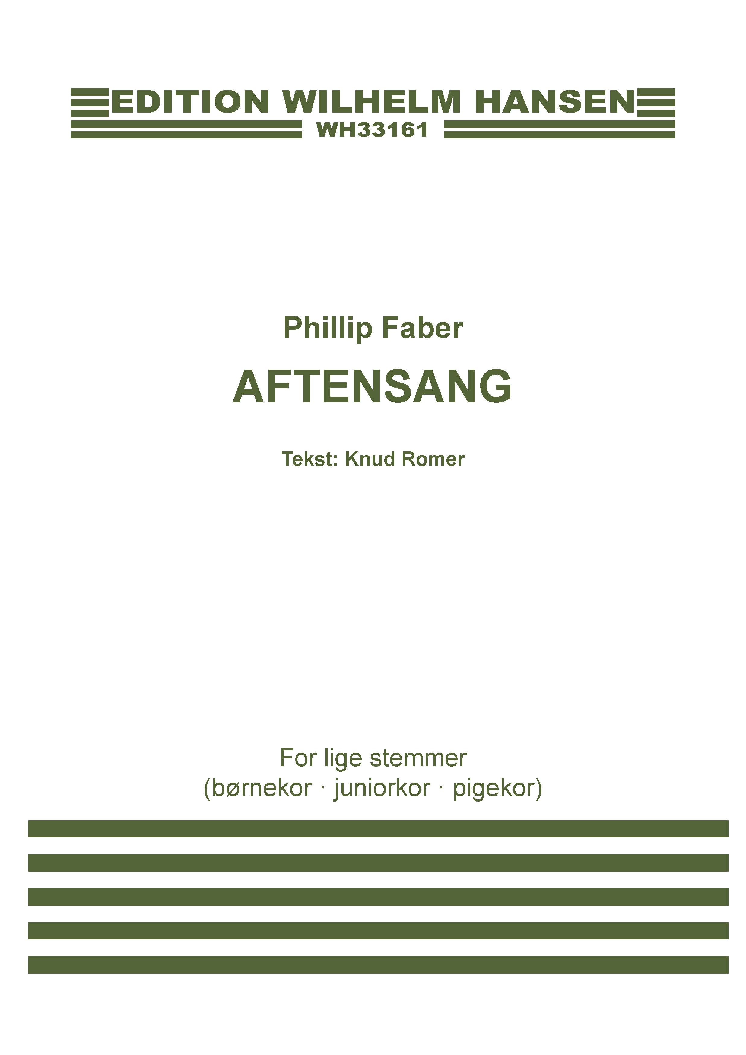 Phillip Faber: Aftensang: Upper Voices A Cappella: Vocal Work