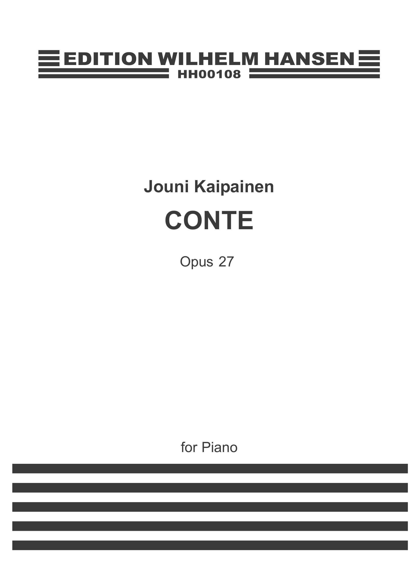 Jouni Kaipainen: Conte Op.27: Piano: Instrumental Work