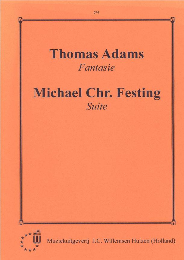Festing-Adams: Suite E & Fantasy: Organ: Instrumental Album