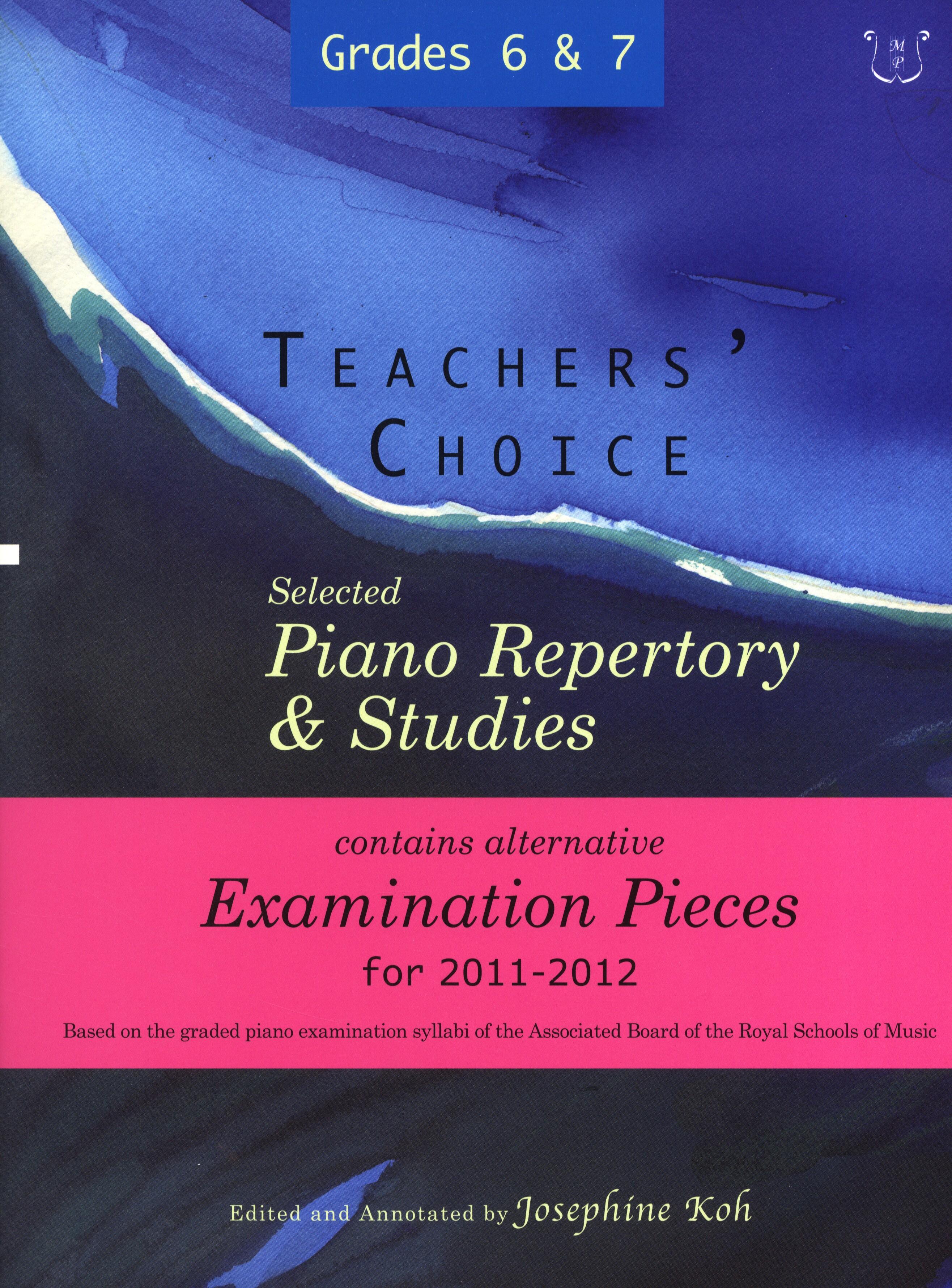 Teachers' Choice Piano Repertory Exam Pieces 2011: Piano: Instrumental Album