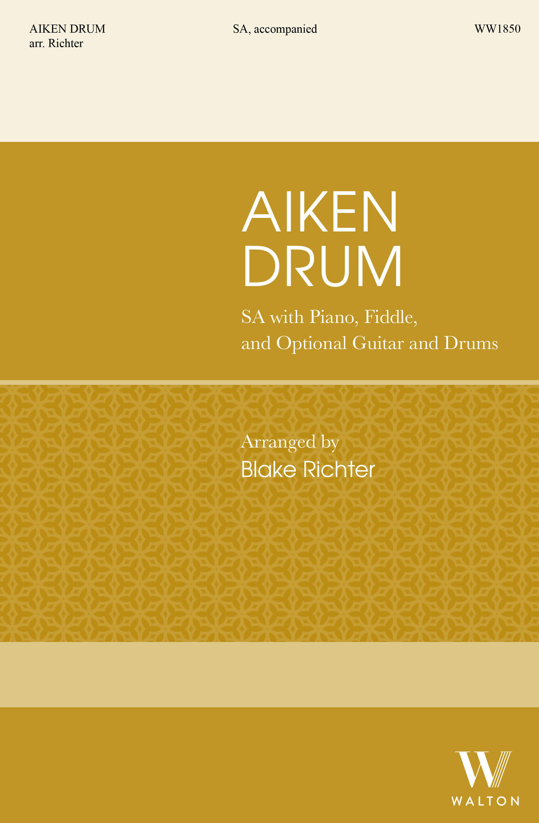 Aiken Drum: Upper Voices and Piano/Organ: Choral Score