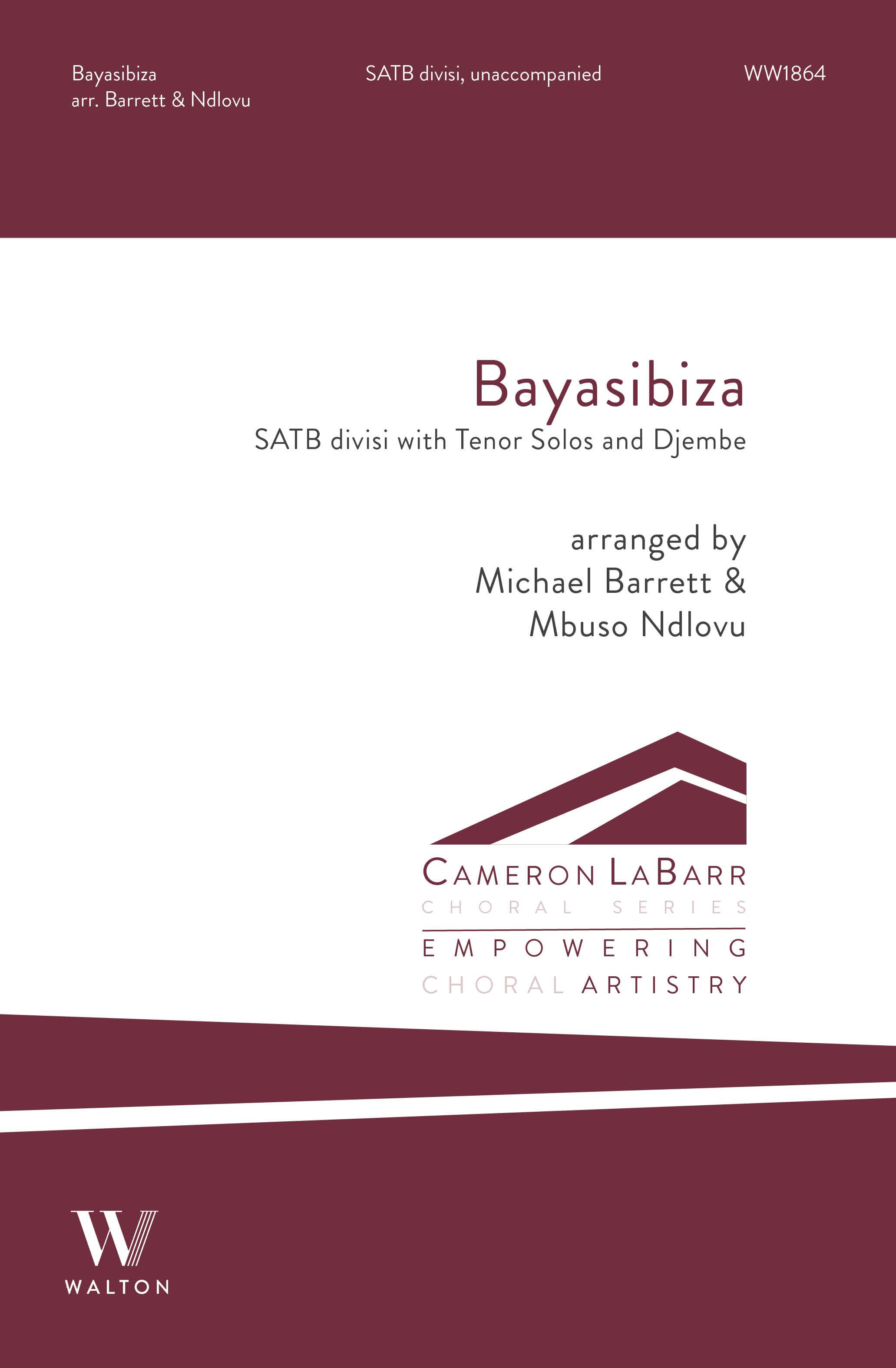 Bayasibiza: Mixed Choir A Cappella: Choral Score