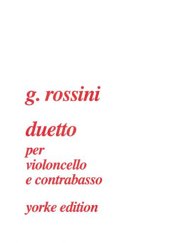 Gioachino Rossini: Duetto for cello and double bass: Trombone: Instrumental