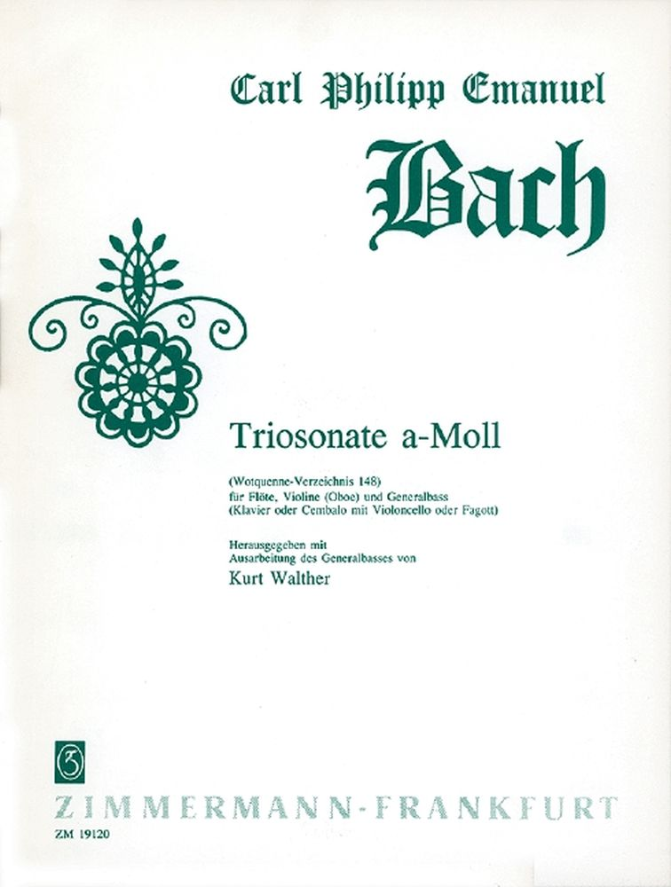 Carl Philipp Emanuel Bach: Triosonate a-Moll Wq 148: Flute & Violin: