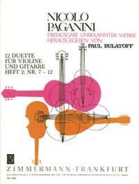 Niccolò Paganini: Twelve Duets Heft 2: Violin: Instrumental Work