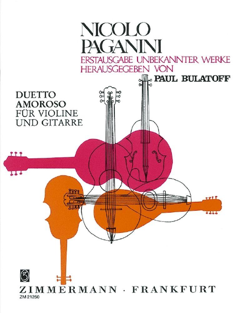 Niccolò Paganini: Duetto amoroso: Violin: Instrumental Work