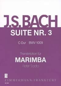 Johann Sebastian Bach: Suite III C-Dur BWV 1009: Marimba: Instrumental Work