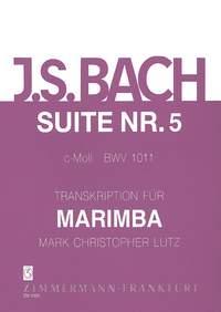 Johann Sebastian Bach: Suite V c-Moll BWV 1011: Marimba: Instrumental Work