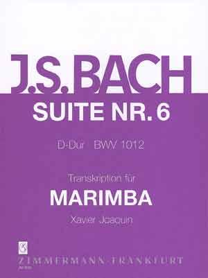 Johann Sebastian Bach: Suite 6 BWV 1012 For Marimba: Marimba: Instrumental Work