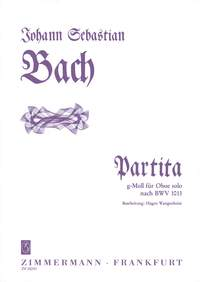 Johann Sebastian Bach: Partita In G Minor BWV 1013: Oboe: Instrumental Work