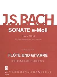 Johann Sebastian Bach: Sonate e-Moll BWV 1034: Flute: Instrumental Work