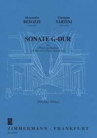 Alessandro Besozzi: Sonate G-Dur: Flute Ensemble: Score and Parts