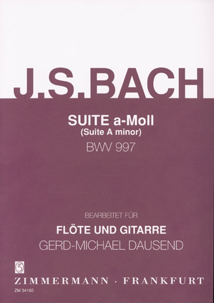 Johann Sebastian Bach: Suite In A Minor BWV 997: Flute & Guitar: Instrumental