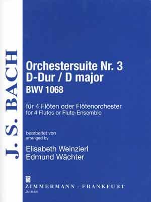 Johann Sebastian Bach: Suite 3 Bwv1068: Flute Ensemble: Instrumental Work