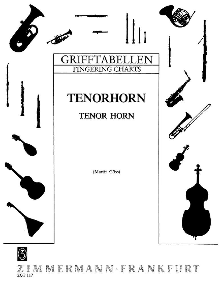 Fingering Table for Baritone / Flugelhorn: Tenor Horn: Instrumental Tutor