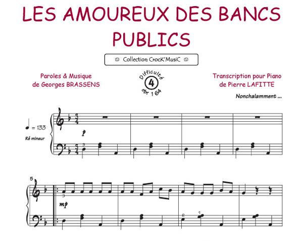 Sheet Music Georges Brassens Les Amoureux Des Bancs Publics