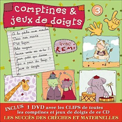 Album CD/DVD `Comptines et jeux de Doigts` avec Rémi Vol.3