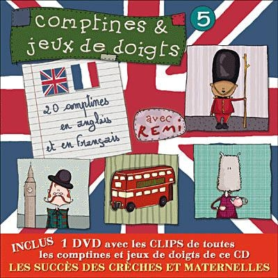 Album CD/DVD `Comptines et jeux de Doigts` avec Rémi Vol.5