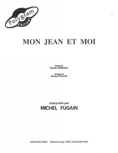 Fugain, Michel : Mon Jean Et Moi