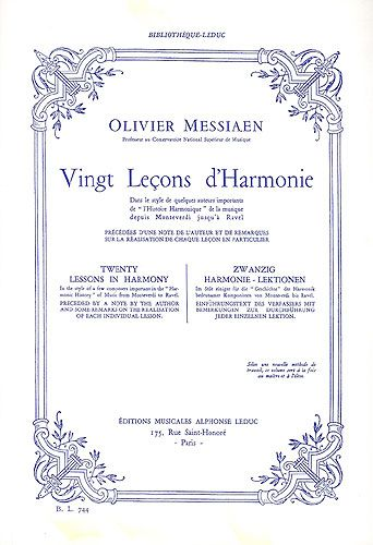 Messiaen, Olivier : 20 Leçons d'Harmonie bl744