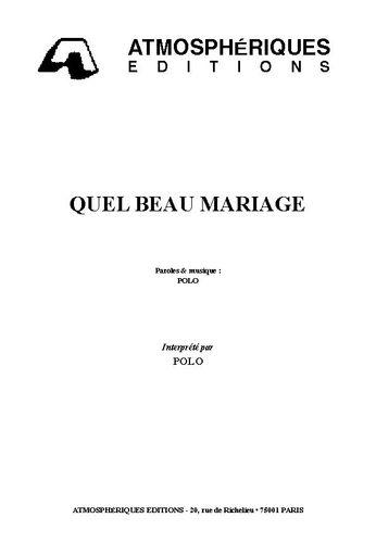 Polo : Quel Beau Mariage