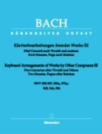 Arrangements pour clavier d'?uvres d'autres compositeurs - Volume 3 (Bach, Johann Sebastian)