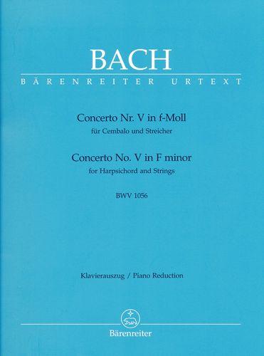 Bach, Johann Sebastian : Concerto pour clavecin en fa mineur BWV 1056 (n° 5) / Concerto for Harpsichord in F minor BWV 1056 (No. 5)