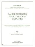 Sichler, Jean : Cahier de textes pour l'analyse simplifiée