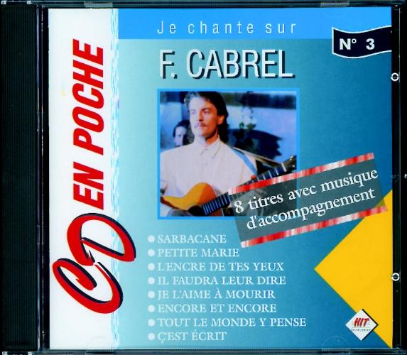 Cabrel, Francis : CD en poche n°3 Fancis Cabrel