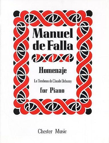 DE FALLA MANUEL LE TOMBEAU DE DEBUSSY PIANO