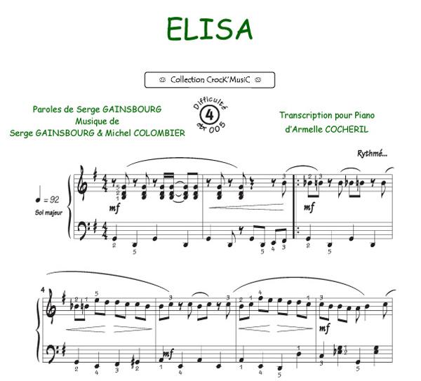 Elisa (Gainsbourg, Serge / Colombier, Michel)