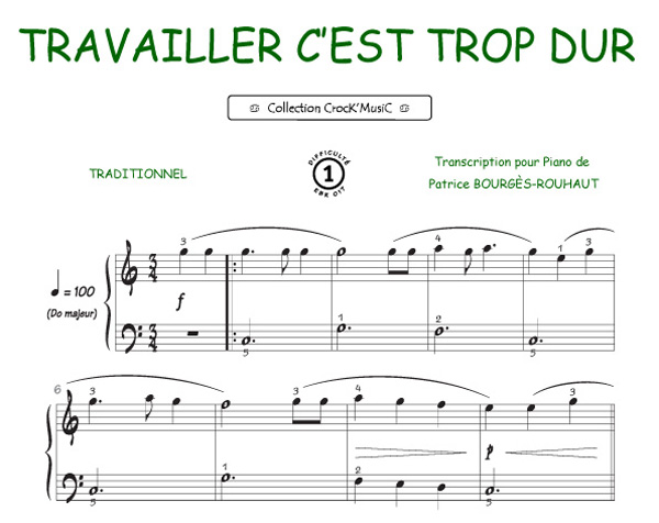 Luigi / Hugo Peretti / George Weiss : Travailler, c est trop dur (Collection CrocK MusiC)