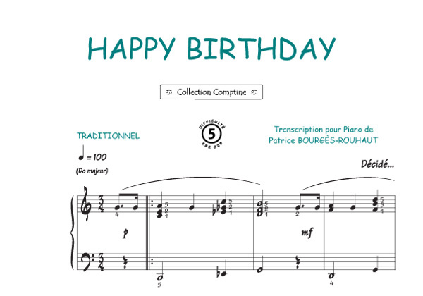 Traditionnel : Happy birthday (Traditionnel / Comptine)