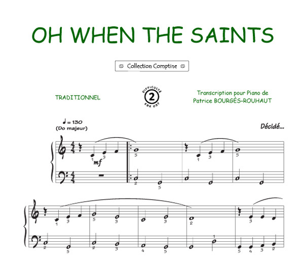 Oh when the saints (Traditionnel / Comptine)