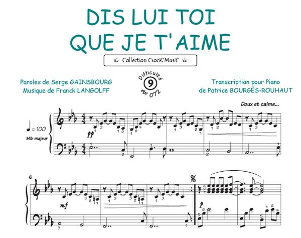 Dis lui toi que je t'aime (Gainsbourg, Serge / Langolff, Franck)