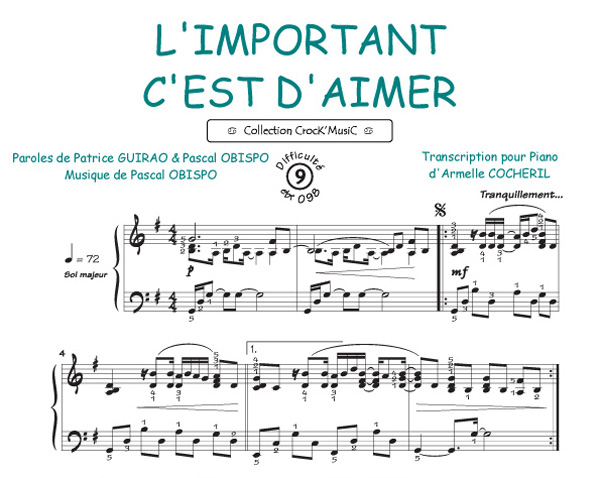 Obispo, Pascal : L'important c'est d'aimer (Collection CrocK'MusiC)
