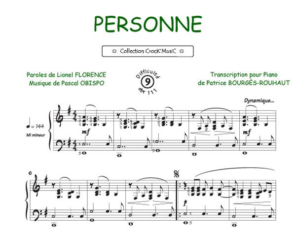 Personne (Obispo, Pascal / Florence, Lionel)