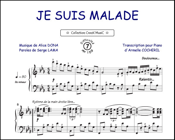 Je suis malade (Collection CrocK'MusiC)