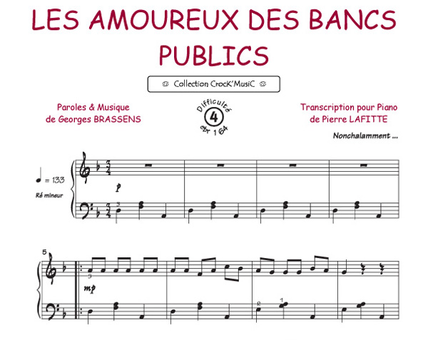 Georges Brassens : Les amoureux des bancs publics (Collection CrocK'MusiC)