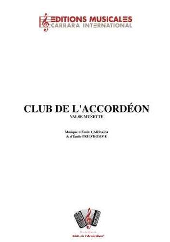 Emile Carrara : Club De L Accordéon (Valse Musette)