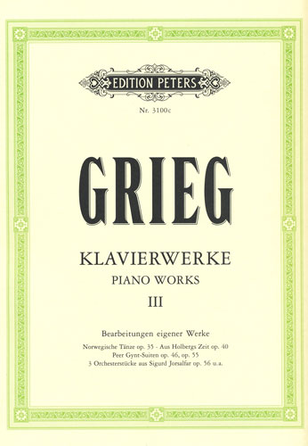 Grieg, Edvard : Piano Works III