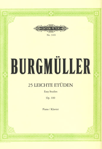 Burgmuller : 25 Easy Studies Opus 100