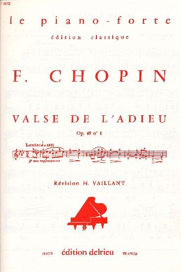 Chopin, Frédéric : Valse en ré bémol Opus 64 n° 1 'Le petit chien'