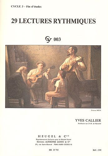 Callier, Yves : 29 Lectures Rythmiques - Cycle 3 - Fin d'Etudes