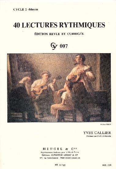 Callier, Yves : 40 Lectures Rythmiques - Cycle 2