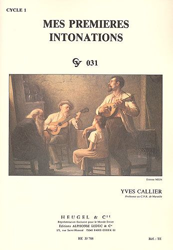 Callier, Yves : Mes Premières Intonations - Cycle 1