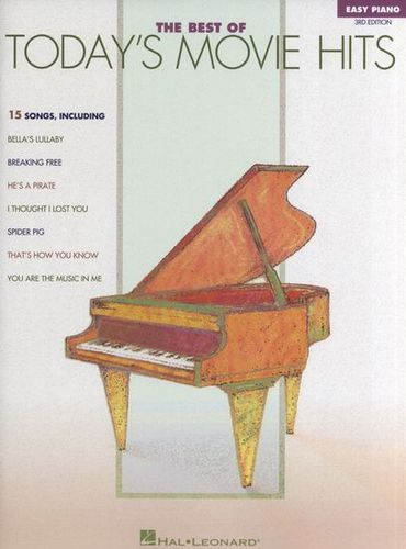 Best Of Today's Movie Hits Easy Piano - 3ème Edition