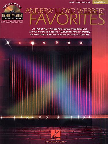 Piano Play-Along Volume 26: Andrew Lloyd Webber Favorites