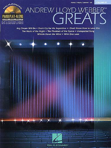 Piano Play-Along Volume 27: Andrew Lloyd Webber Greats